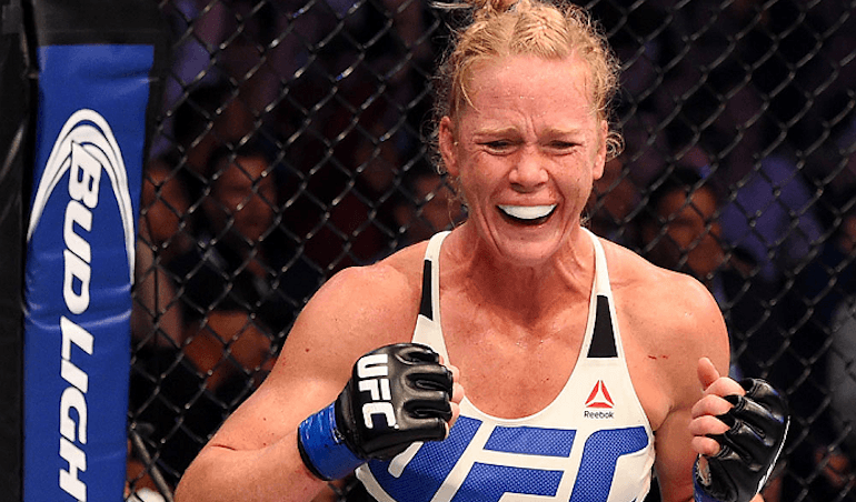 Former UFC bantamweight champion, Holly Holm.