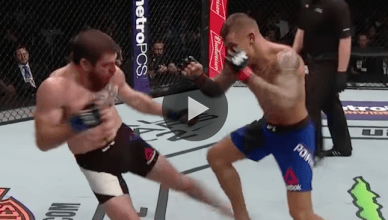 Watch the replay of the war between UFC lightweights Dustin Poirier and Jim Miller for their fight of the night performances at UFC 208.
