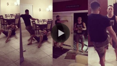 UFC welterweights and teammates Jorge Masvidal and Colby Covington test out one of Diamond MMA's cups.