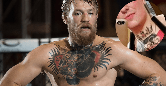 Four Mcgregor Mega Fans Copy Conors Massive Chest Tattoo
