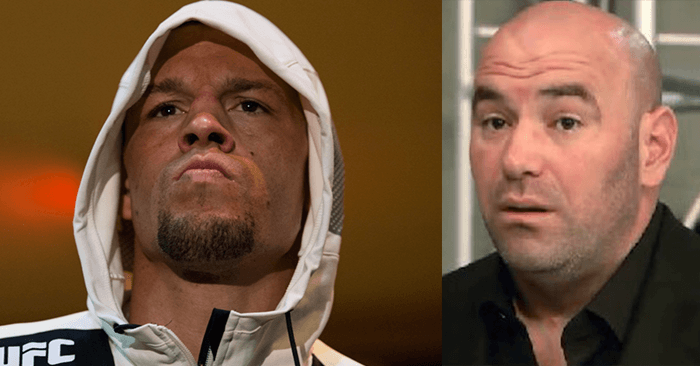 Nate Diaz and Dana White.
