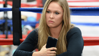 Former UFC bantamweight champion, Ronda Rousey.