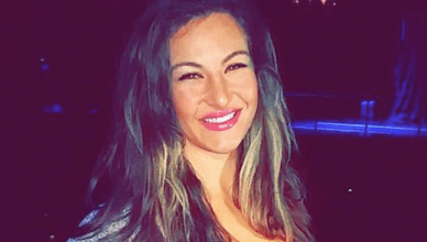 Former UFC bantamweight champion Miesha Tate is all smiles.