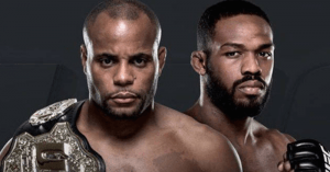 UFC light heavyweight champ Daniel Cormier and his rival Jon Jones.