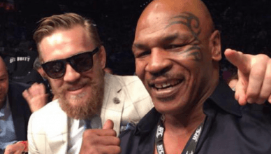 Mike Tyson with Conor McGregor.
