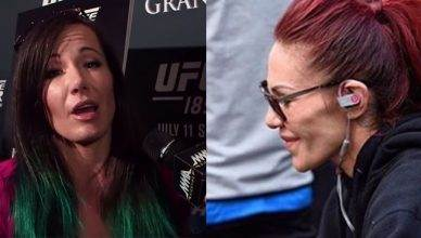 Angela Magana and Cris Cyborg.