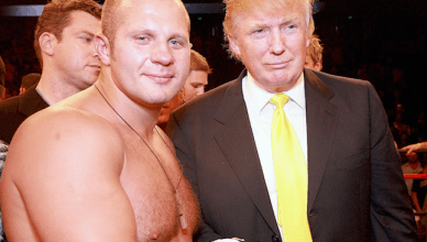 Fedor Emelianenko with Donald Trump.