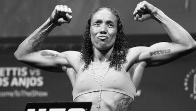 Former UFC featherweight champion Germaine de Randamie.