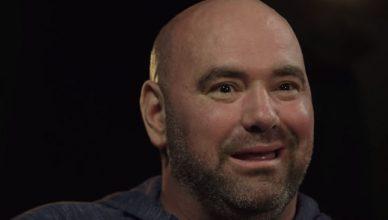 UFC President Dana White all smiles for the camera