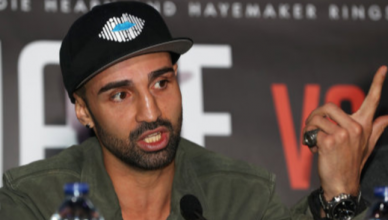 Former boxing world champion Pauli Malignaggi.