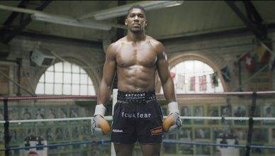 Boxing heavyweight champion Anthony Joshua