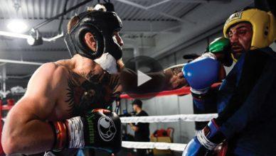 Conor McGregor sparring Pauli Malignaggi.