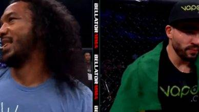 Benson Henderson with his infamous toothpick.