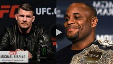 Michael Bisping says he won't train with Daniel Cormier.