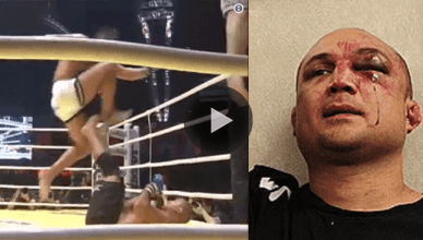 Check out the replay of former UFC light heavyweight champion Lyoto Machida putting a beating the usual super fat and out of shape B.J. Penn.