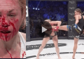 Former Boxing World champion Heather Hardy got smashed, bloodied and stopped during her second MMA fight at Bellator 185.