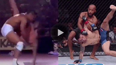 UFC flyweight champion Demetrious Johnson pulled off an insane German suplex to armbar finish at UFC 216, but BJJ legend RIckson Gracie did it years earlier