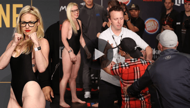 Boxing champion turned MMA fighter Heather Hardy went viral when she made weight and an old opponent tried to get in her face on stage,