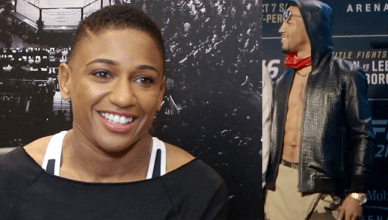 UFC strawweight contender Angela Hill had no problem letting her fans know she was admiring UFC lightweight star Kevin Lee.