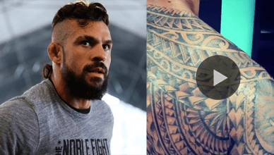 MMA and UFC legend Vitor Belfort just posted a picture of his N.EW, massive body tattoo