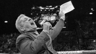 The longtime voice of the octagon, Bruce Buffer, will not be announcing this weekends UFC fight card.