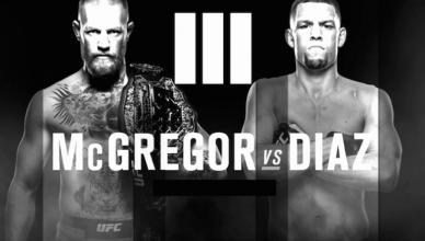 The UFC just posted a fight poster featuring the trilogy fight between lightweight champ Conor McGregor and his rival Nate Diaz, but quickly deleted it.