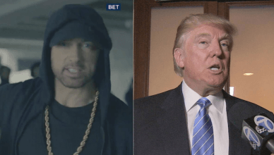 UFC fighters react to hip hop icon Eminem spitting an anti-Trump freestyle at the BET Awards show.
