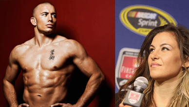Georges St. Pierre and Miesha Tate.