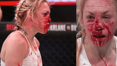 Former boxing world champion, Heather Hardy after her Bellator MMA fight.