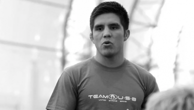 Top ranked UFC flyweight contender Henry Cejudo jumps off his balcony and breaks his ankle trying to escape the California Wildfires.