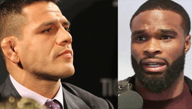 "Former UFC lightweight champion Rafael dos Anjos is taking some shots at reigning welterweight champion Tyron Woodley calling him a ""duck""."