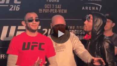 UFC President Dana White has been in the middle of some very heated fighters.