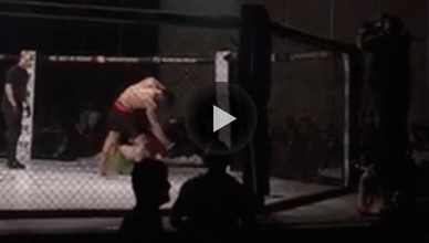 In one of the most rare knockouts in MMA, a fighter landed a crazy bicycle kick to pull of an insane K.O. during their fight.