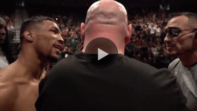 UFC boss Dana White caught all the weigh in drama.