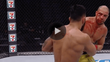 UFC middleweight Brad Tavares bloodied up his challenger Thales Leites during their fight at UFC 216