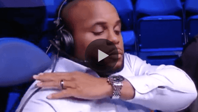 UFC light heavyweight champion Daniel Cormier has gone viral for his behind the scenes clip while he was behind the desk with Joe Rogan and Jon Anik.