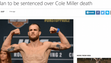 MSN gets their report all wrong, Cole Miller isn't dead.