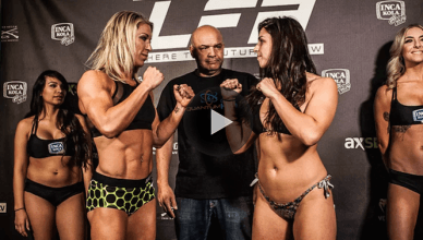 BJJ world champion Mackenzie Dern just weighed-in for her MMA fight at LFA 24 this Friday night on AXS TV.