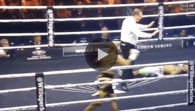 What has to be the dirtiest punch of the month just happened in the boxing ring. Check out the replay.