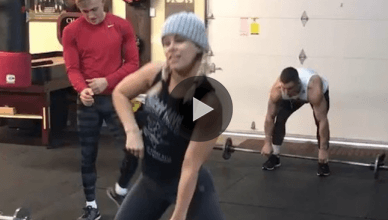 UFC star Paige VanZant is so excited to finally be injury free and back in the gym that she posted a special dance video earlier.