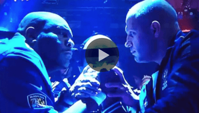 """Mixed martial arts legends collide in arm wrestling as """"The Beast"""" Bob Sapp takes on former Pride FC heavyweight champion Fedor Emelianenko."""