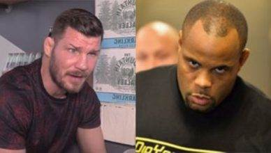 UFC middleweight champion Michael Bisping and Daniel Cormier.