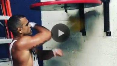UFC legend Vitor Belfort still has some crazy hand speed.