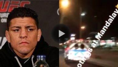 Nick Diaz was in Las Vegas during the tragic shooting.