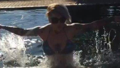 UFC strawweight star Bec Rawlings does a beached whale impression, and it's quite impressive.