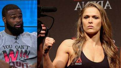 UFC welterweight champion Tyron Woodley names the one opponent former champ Ronda Rousey would return to the octagon for.
