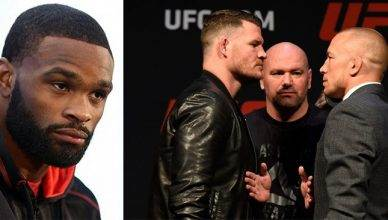 UFC welterweight champion Tyron Woodley wants to wait for the winner of UFC 217's main event between Michael Bisping and Georges St. Pierre.
