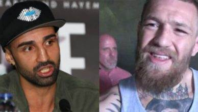Pauli Malignaggi and Conor McGregor.