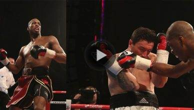 """Undefeated Bellator MMA fighter Michael """"Venom"""" Page scored a brutal knockout in the 3rd round of his professional boxing debut."""