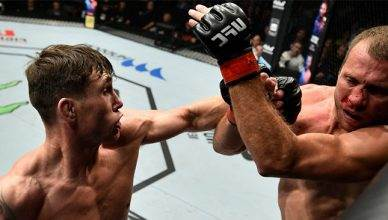 Donald Cerrone getting dominated by fast rising welterweight star Darren Till at UFC Fight Night 118 from Poland.